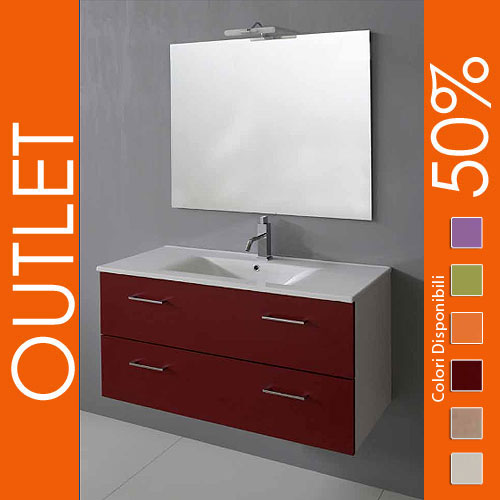 Outlet arredo bagno sospeso 100 bordeaux - Outlet mobili bagno brescia ...