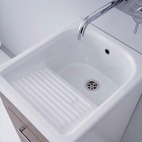 Lavatoi in ceramica lavatoio in ceramica mosella 44x52 for Lavello per lavanderia