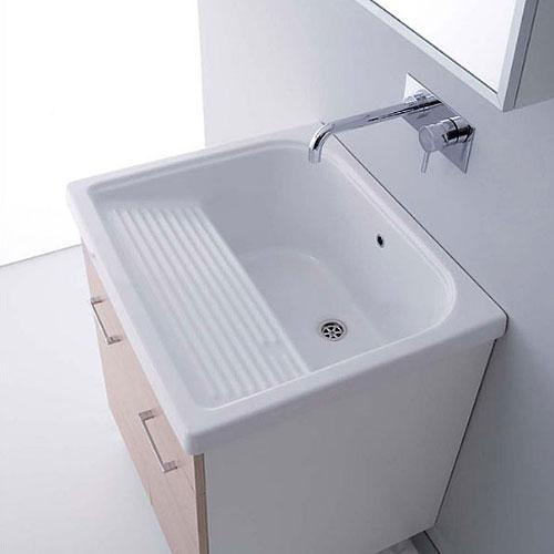 Lavatoi in ceramica: Vasca lavatoio in ceramica 75x65 Rodano